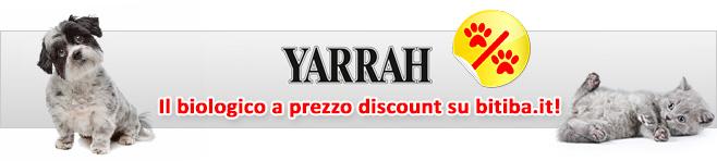 Cibo bio per cani e gatti di marca Yarrah