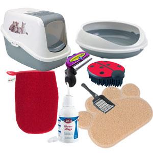 accessori per l'igiene dei gatti